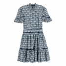 MAISON SCOTCH - PRINTED DRESS WITH LADDER LACE - BLÅ thumbnail