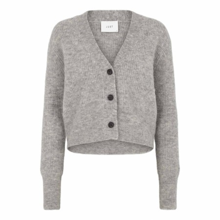 JUST FEMALE - REBELO KNIT CARDIGAN - GREY MEL.