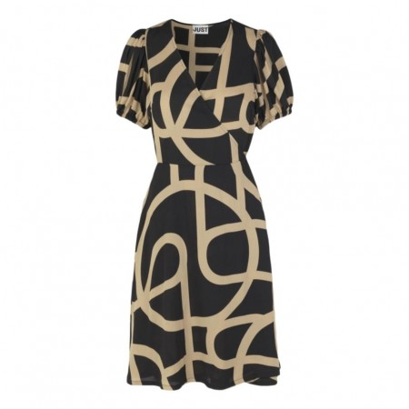 JUST - LEYLA WRAP DRESS - JUST A SIGN AOP