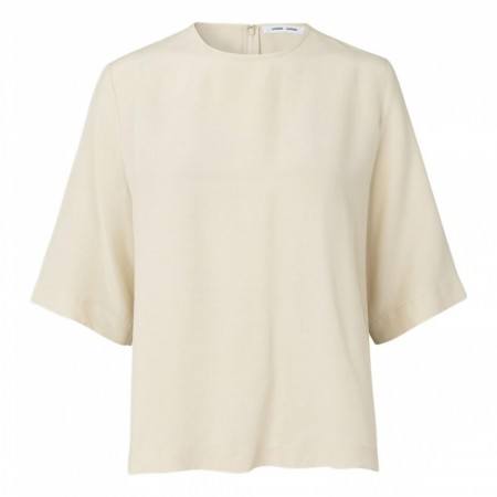 SAMSØE SAMSØE - ISABEL BLOUSE SS 11464 - WARM WHITE