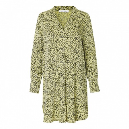 SAMSØE & SAMSØE - HAMILL VN DRESS AOP 8325 - YELLOW BUTTERCUP