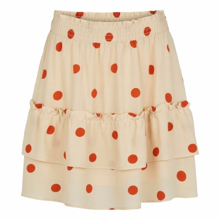 JUST FEMALE - ADELIA SKIRT - BIRCH POLKA DOT AOP