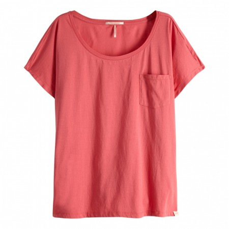 MAISON SCOTCH - OVERSIZED TEE IN PRINTS AND SOLIDS - ROSA
