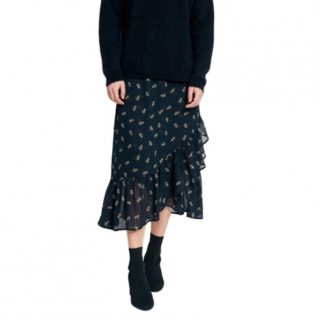 InWear - Ziri Skirt - Marine Blue Flower