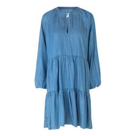 SECOND FEMALE - LILLA LS DRESS - DENIMBLUE