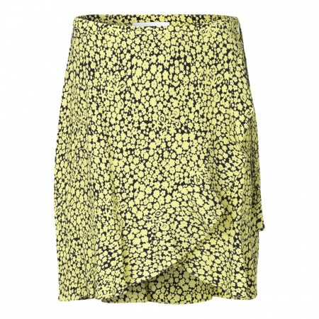 Samsøe & Samsøe - Limon S Wrap Skirt Aop 6515 - Yellow Buttercup