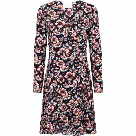 Just Female - Sean Wrap Dress - Wild Flower Blue