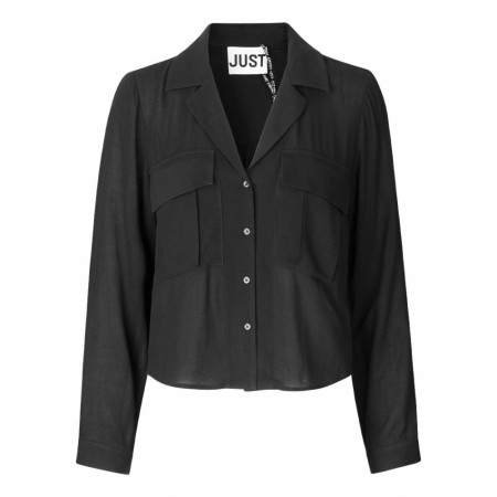 JUST FEMALE - LEOLIA SHIRT - BLACK