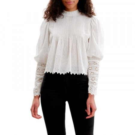 By Ti-mo - Broderie Anglaise Blouse - White