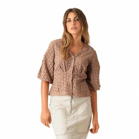 SECOND FEMALE - MILLY SS BLOUSE - CAMEL