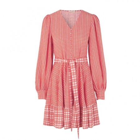 STINE GOYA - FARROW DRESS - RED & WHITE PLAID