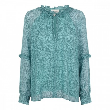 SECOND FEMALE - Lykke Balloon Blouse - aqua haze