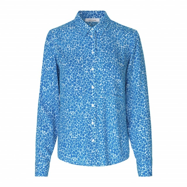 Samsøe & Samsøe - Milly Shirt Aop 7201 - Blue Buttercup