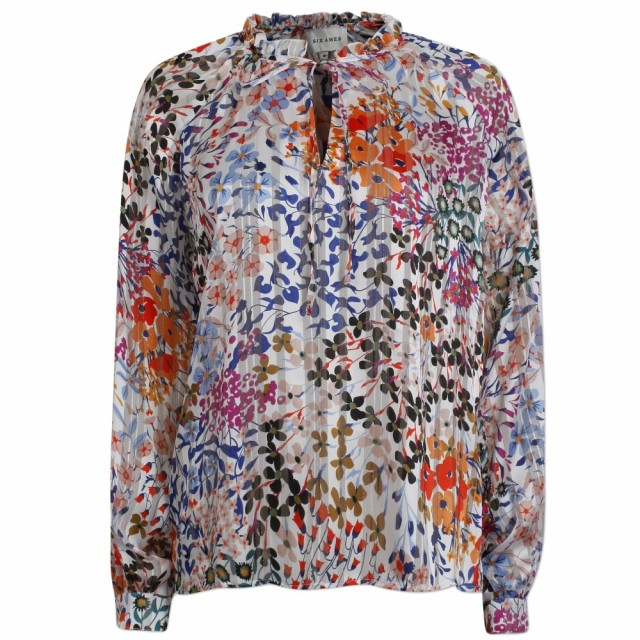 Six Ames - Ditta Blouse - Bold Bloom