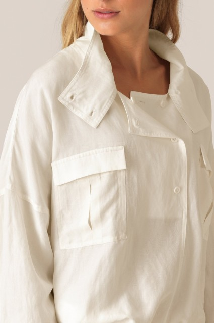 SECOND FEMALE - NUKANA LS BLOUSE - OFFWHITE