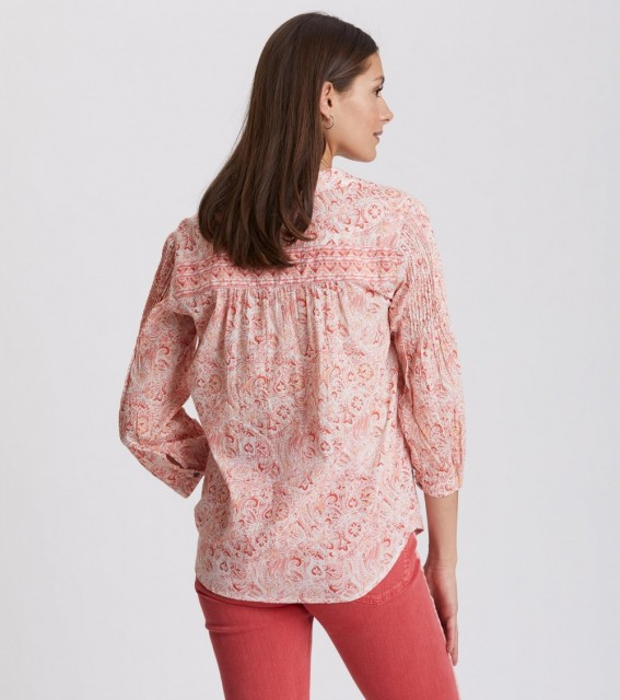 Odd Molly - Flowering Spirit Shirt - sea coral
