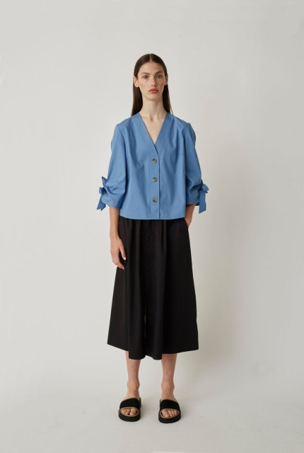 JUST FEMALE - MAJKEN BLOUSE - BLUE
